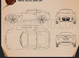 Pontiac Solstice Coupe 2009 Blueprint