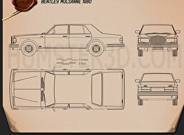Bentley Mulsanne 1980 Blueprint
