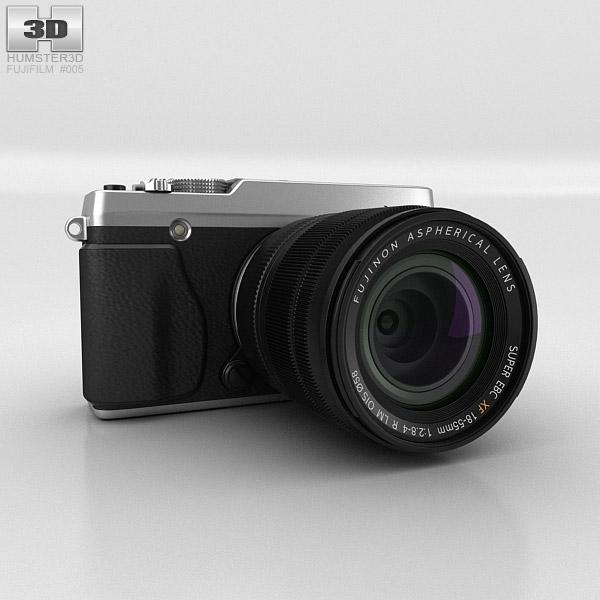 Fujifilm X-E1 Silver 3D model