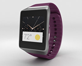 3D model of Samsung Gear Live Wine Red