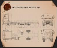 DAF LF Chassis Truck 2013 Blueprint