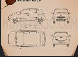 Daihatsu Astra Ayla 2013 Blueprint