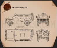 GAZ Tiger-M 2011 Blueprint