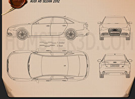 Audi A6 sedan 2012 Blueprint