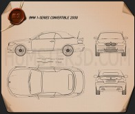 BMW 1 Series convertible 2009 Blueprint