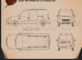 Dodge Ram Pro Master City Wagon 2015 Blueprint