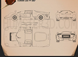 Ferrari 330 P4 1967 Blueprint