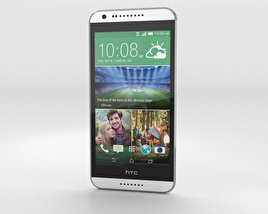 3D model of HTC Desire 620G Marble White