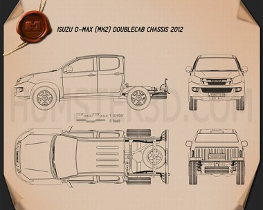 Isuzu D-Max Double Cab Chassis 2012 Blueprint