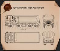 Iveco Trakker Tipper Truck 2013 Blueprint