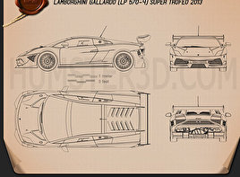 Lamborghini Gallardo LP 570-4 Super Trofeo 2013 Blueprint