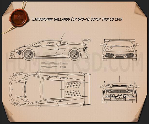 Lamborghini Gallardo LP 570-4 Super Trofeo 2013 Blueprint
