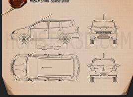 Nissan Livina Geniss 2006 Blueprint