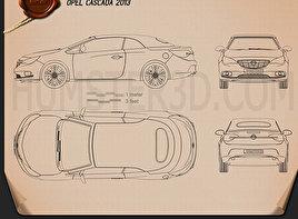 Opel Cascada (Cabrio) 2013 Blueprint