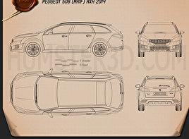 Peugeot 508 RXH 2014 Blueprint