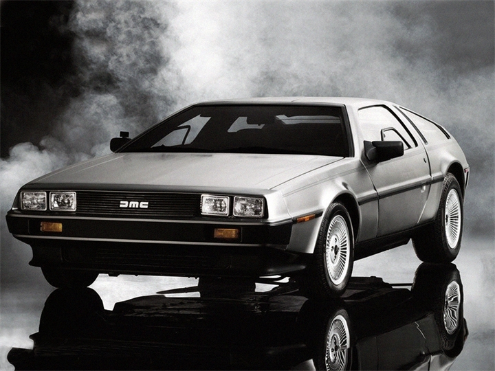 """DeLorean from the movie """"Back to the Future."""""""