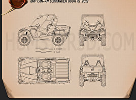 BRP Can-Am Commander XT 2012 Blueprint