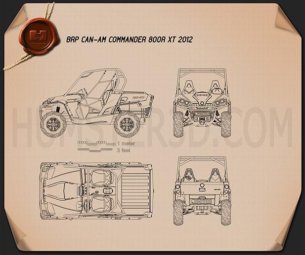 BRP Can-Am Commander XT 2012 Blueprint