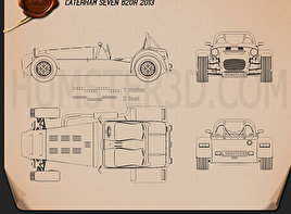 Caterham Seven 620R 2013 Blueprint