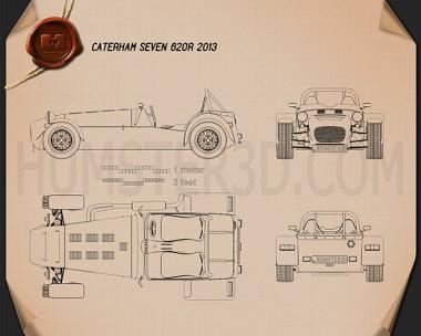 Caterham Seven 620R 2013 Blueprint