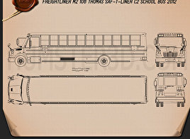 Thomas Saf-T-Liner C2 School Bus 2012 Blueprint