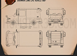 Grumman Long Life Vehicle 1987 Blueprint