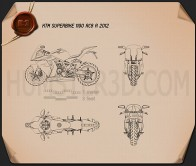 KTM 1190 RC8 R 2012 Blueprint