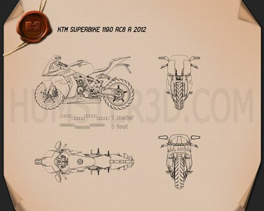 KTM 1190 RC8 R 2012 Blueprint