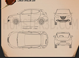 Lancia Ypsilon 2011 Blueprint