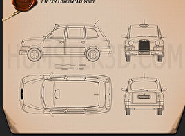 LTI TX4 London Taxi Blueprint