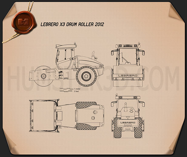 Lebrero X3 Drum Roller 2012 Blueprint