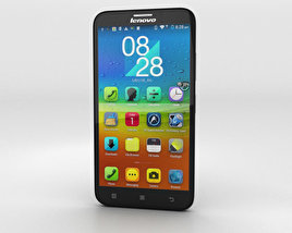 3D model of Lenovo A916 Black