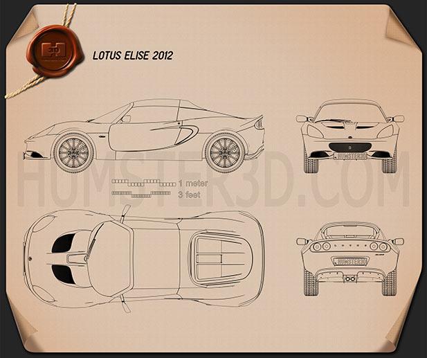 Lotus Elise 2012 Blueprint