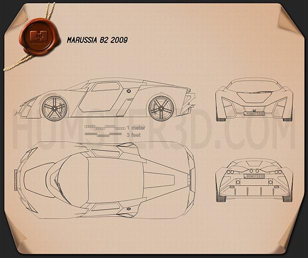 Marussia B2 2010 Blueprint