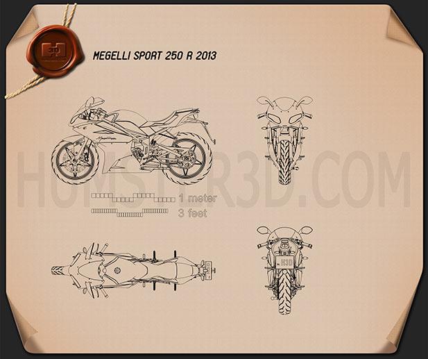 Megelli Sport 250 R 2013 Blueprint