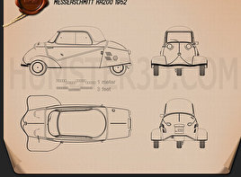 Messerschmitt KR200 1956 Blueprint