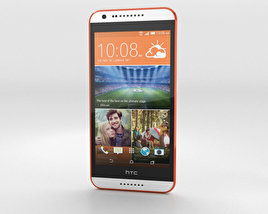 3D model of HTC Desire 620G Tangerine White