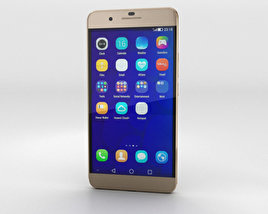 3D model of Huawei Honor 6 Plus Gold