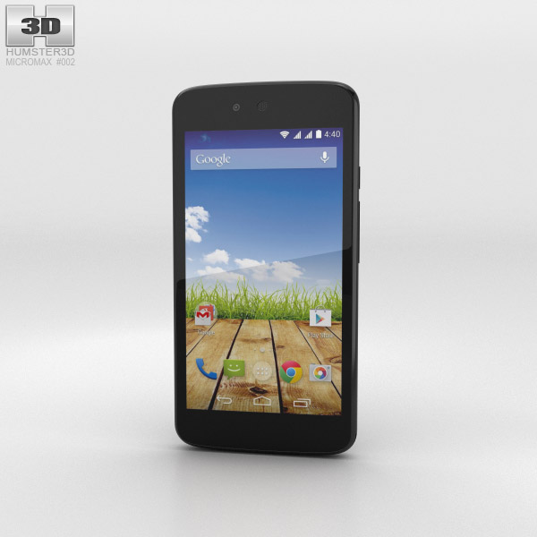 3D model of Micromax Canvas A1 Magnetic Black