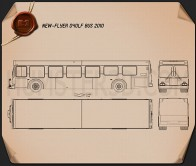 New Flyer D40LF Bus 2010 Blueprint