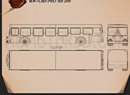 New Flyer D40LF Bus 2010 Blueprint