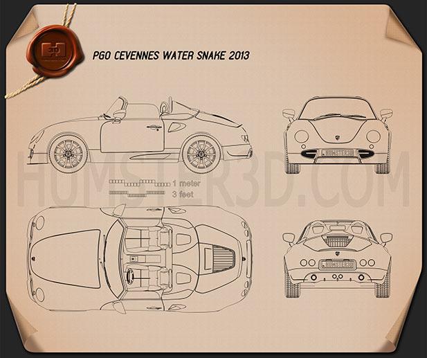 PGO Cevennes Water Snake 2013 Blueprint