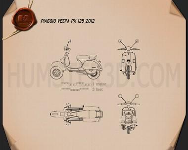 Piaggio Vespa PX 125 2012 Blueprint
