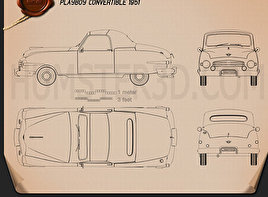 Playboy Convertible 1951 Blueprint