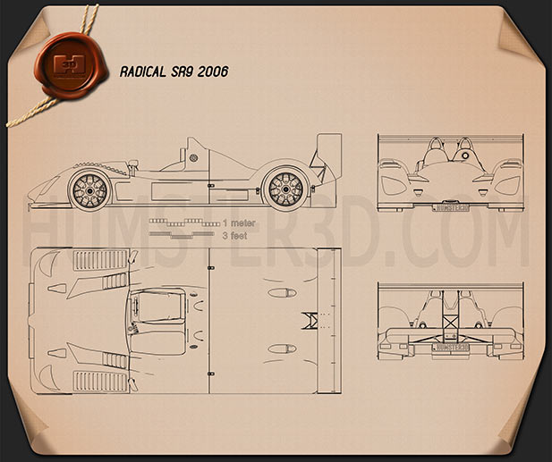Radical SR9 2006 Blueprint