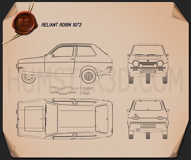 Reliant Robin 1973 Blueprint