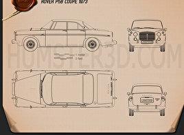 Rover P5B coupe 1973 Blueprint
