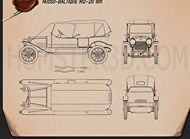 Russo-Balt K12/20 1911 Blueprint