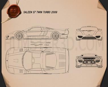 Saleen S7 Twin Turbo 2009 Blueprint