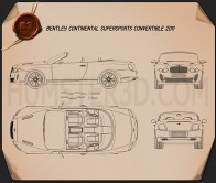 Bentley Continental Supersport convertible Blueprint